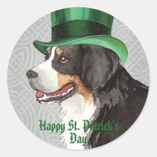St. Patrick's Day Berner Round Sticker
