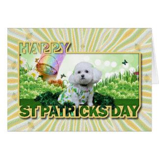 St Patrick's Day - Bichon Frise - Mia Card