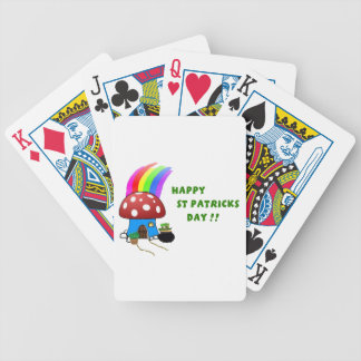 St Patricks Day Bicycle Playing Cards