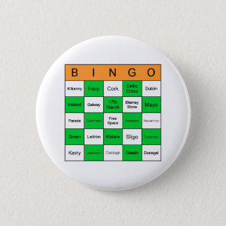 St Patricks Day Bingo 2 Inch Round Button