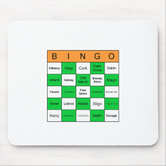 St Patricks Day Bingo Mouse Pad