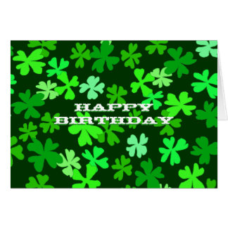St. Patrick's Day Birthday Card