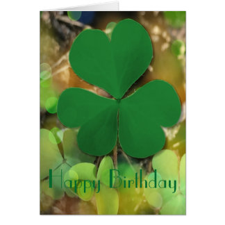 St Patrick's Day Birthday Card
