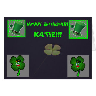 St Patrick's Day Birthday Greeting Day Card
