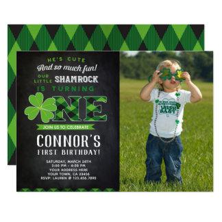 St Patrick's Day Birthday Invitation with Photo