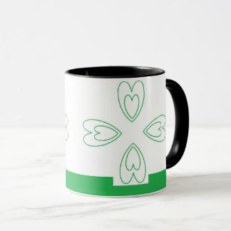 St. Patrick's Day Black 11 oz Combo Mug art by JS