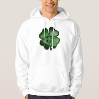 St. Patrick's Day Bling, rub for luck Hoodie