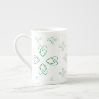 St. Patrick's Day Bone China Mug art by JShao