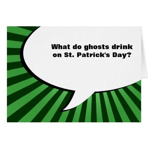 st patricks day boos joke greeting card