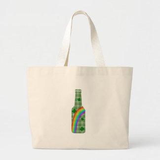 St. Patricks day - Bottle Large Tote Bag
