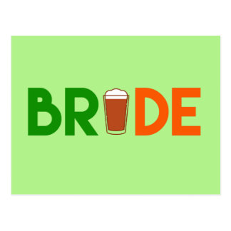 St. Patrick's Day Bride Postcard