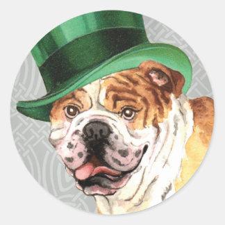 St. Patrick's Day Bulldog Sticker