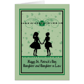 St. Patrick's Day Card, Daughter & Daughter in Law Card