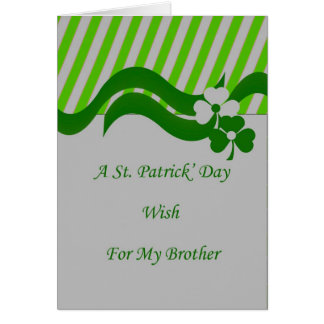 St. Patrick's Day Card for Brother