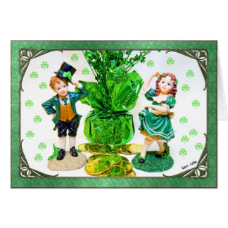 St. Patrick's Day Card with little figurines