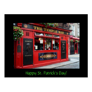 St. Patrick's Day card with Temple Bar