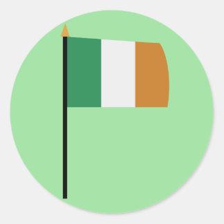 St. Patricks Day Cards Round Sticker