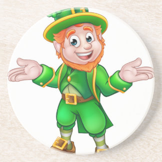 St Patricks Day Cartoon Leprechaun Coaster