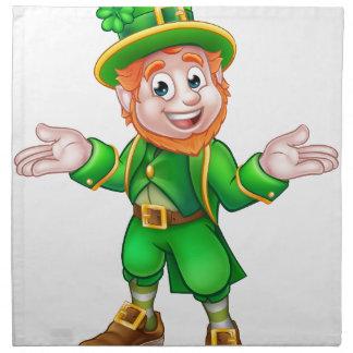 St Patricks Day Cartoon Leprechaun Napkin