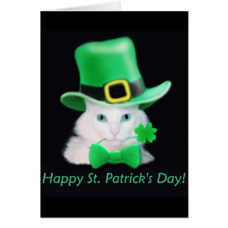 St.Patricks Day Cat Card