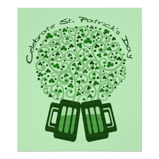 St. Patrick's Day Celebration Art Poster Print