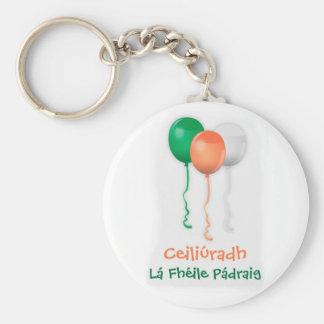 ST PATRICKS DAY CELEBRATION, IRISH GAELIC LANGUAGE KEYCHAIN