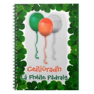 ST PATRICKS DAY CELEBRATION, IRISH GAELIC LANGUAGE NOTEBOOK