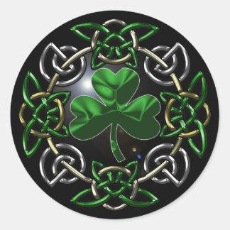 St. Patrick's Day Celtic knot design Stickers
