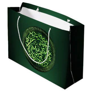 St. Patrick's Day - Celtic Pattern Round Large Gift Bag