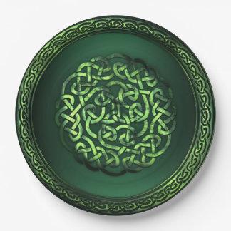 St. Patrick's Day - Celtic Pattern Round Paper Plate