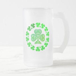 St. Patrick's Day Celtic Shamrock Beer Mug