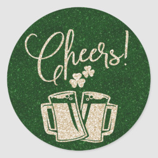 St Patricks Day Cheers | Irish Beer Party Round Sticker
