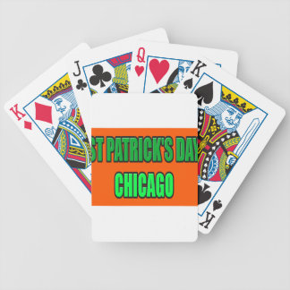 ST PATRICK'S DAY CHICAGO BICYCLE PLAYING CARDS