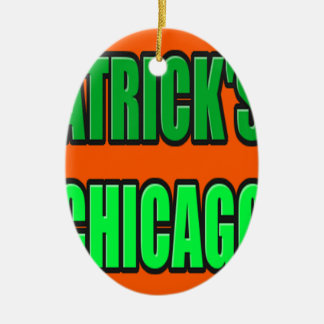 ST PATRICK'S DAY CHICAGO CERAMIC ORNAMENT