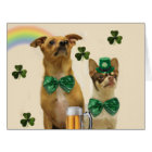 St. Patrick's Day Chihuahuas Card