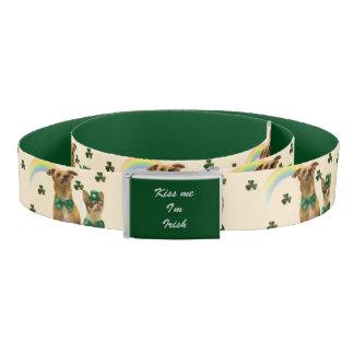 St. Patrick's Day chihuahuas custom belt