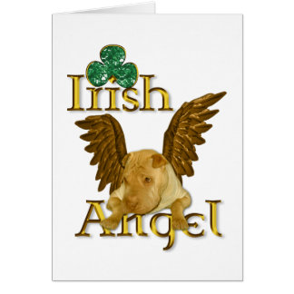 St. Patrick's Day Chinese Shar Pei Dog Irish Angel Card