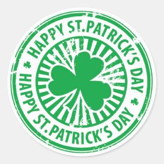 St. Patrick's Day Classic Round Sticker