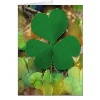 St Patrick's Day Clover Greeting Card