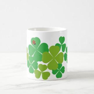 St. Patrick's Day Clover & Ladybug Coffee Mug