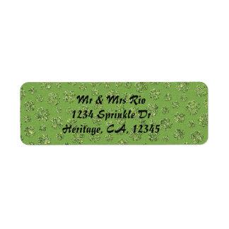 St. Patrick's Day Clover Leaf Address Label