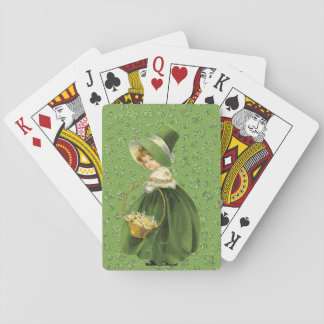 St. Patrick's Day Clover Leaf Playing Cards