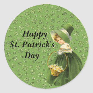 St. Patrick's Day Clover Leaf Sticker