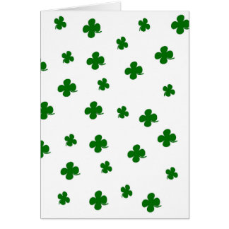 St. Patricks day clover pattern Card