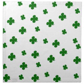 St. Patricks day clover pattern Napkin