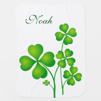 St. Patrick's Day Clover / Shamrocks + your ideas Baby Blanket