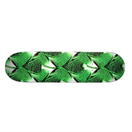 St. Patrick's Day clover Skateboard Deck