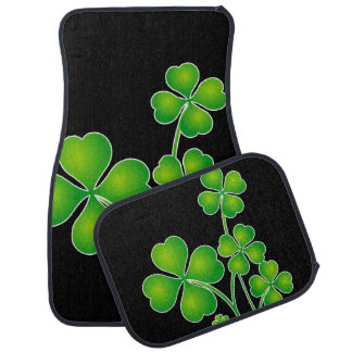 St. Patrick's Day Clover + your ideas Car Mat
