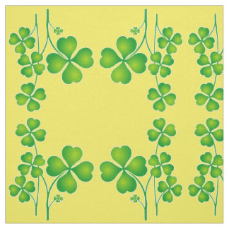 St. Patrick's Day Clover + your ideas Fabric