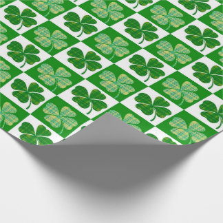 St Patrick's Day Clovers Wrapping Paper